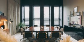 The board room at Fosbury and Sons Harmony - coworking Antwerp
